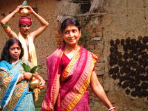 Hindu women Stock Photo