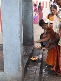 Hindu women make puja Stock Photo