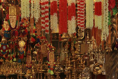 Hindu worship items. Royalty Free Stock Image