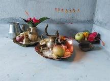 Hindu Worship materials Stock Photos