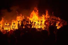 Hinduisk begravning, Sebuluh, Nusa Penida provinz bali indonesia Arkivbilder