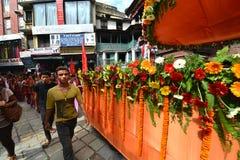 Hinduisk beröm i Nepal Arkivfoton