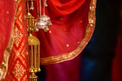 Hinduisk bröllopfnuren arkivbilder