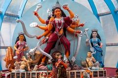 hinduisk durgagudinna royaltyfria bilder