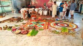 Hinduisk förberedelse för bröllopyagnaceremoni arkivfoto