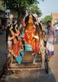 Hinduisk festival i Kolkata, Indien Arkivbild