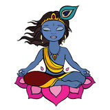 Hinduisk gud Krishna. Arkivbilder