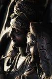 Hinduisk gud Krishna och hinduiska gudinnor Radha. Arkivbild