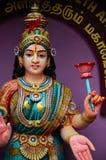 Hinduisk gudinnagud av rikedomförmögenhet och välstånd Lakshmi Fotografering för Bildbyråer