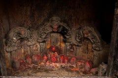 Hinduisk gudinnaskulptur Royaltyfria Bilder
