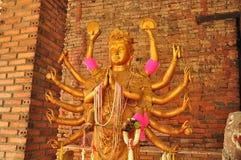 Hinduisk gudinnastaty Arkivfoton