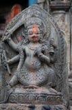Hinduisk gudrelikskrin i Kirtipur, Nepal Royaltyfri Foto