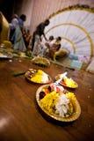 Hinduisk indisk bröllopceremoni Arkivbilder