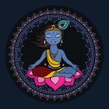 hinduisk krishna för gud Arkivbild