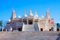 Hinduisk Mandir tempel som göras av marmor Arkivbild