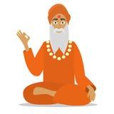 Hinduisk munk Arkivfoto