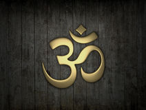Hinduisk om-symbol stock illustrationer