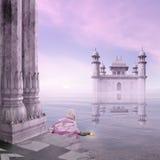Hinduisk ritual i misten Royaltyfria Bilder