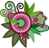 Hinduisk stilblomma Arkivbild