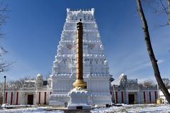 Hinduisk tempel av större Chicago Arkivfoton