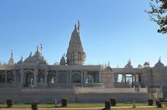 Hinduisk tempel, BAPS Swaminarayan Shri Swaminarayan Mandir i Houston, Texas royaltyfri bild
