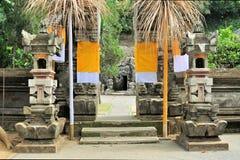 Hinduisk tempel Goa Gajah, Ubud, Bali, Indonesien Arkivbild