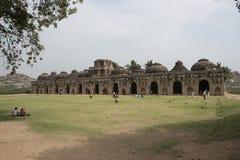 Hinduisk tempel, Hampi, Indien Arkivbilder