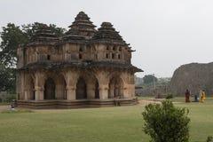 Hinduisk tempel, Hampi, Indien Fotografering för Bildbyråer