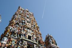 Hinduisk tempel i Colombo Arkivbild