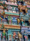 Hinduisk tempel i den Namchi staden, Sikkim stat i Indien, 15th April, Arkivfoto