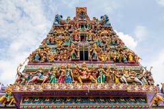 Hinduisk tempel i lilla Indien, Singapore arkivbilder