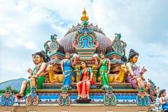 Hinduisk tempel i Singapore Arkivbild