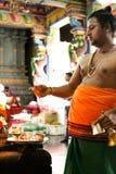 Hinduisk tempel i Victoria Mahe Seychelles Royaltyfri Foto
