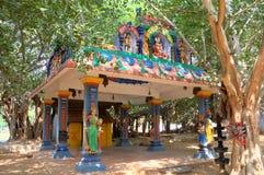 Hinduisk tempel.  Kanyakumari Tamilnadu, Indien royaltyfri bild