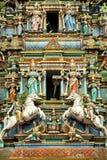 Hinduisk tempel med indiska gudar Kuala Lumpur Malaysia Royaltyfri Fotografi