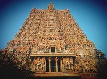 Hinduisk tempel Meenakshi Arkivbild