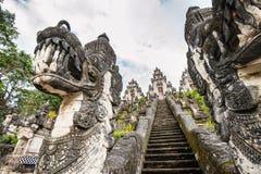 Hinduisk tempel på Bali Arkivfoton