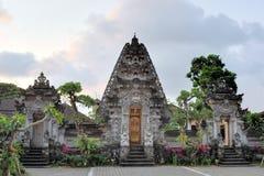 Hinduisk tempel på Ubud, Bali, Indonesien Arkivbilder