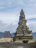 Hinduisk tempel Pura Luhur Poten, montering Bromo, Java, Indonesien Arkivbild