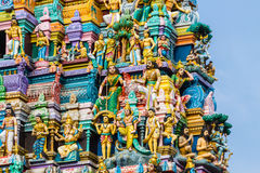 Hinduisk tempel Sri Lanka Arkivbilder