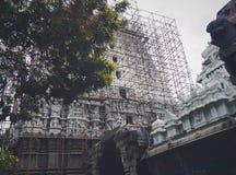 Hinduisk tempel Suchindram fotografering för bildbyråer