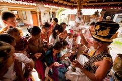 hinduiska brahminceremonier Arkivbild