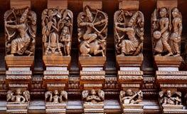 Hinduiska gudar på triumfvagnen Arkivbilder
