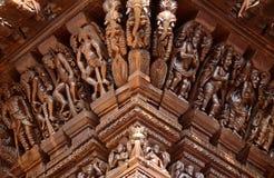 Hinduiska gudar på triumfvagnen Arkivbild