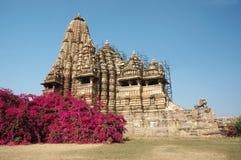 hinduiska india khajurahotempel Fotografering för Bildbyråer