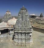 hinduiska india kumbhalgarthrajasthan tempel Fotografering för Bildbyråer