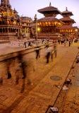 hinduiska nepal tempel Arkivbilder