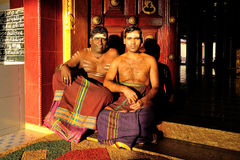 Hinduiska präster Arkivbilder