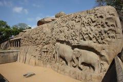 hinduiska skulpturer Royaltyfria Bilder