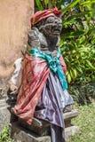 Hinduiska statyer för Balinese i den Ubud slotten, Gianyar, Bali Fotografering för Bildbyråer